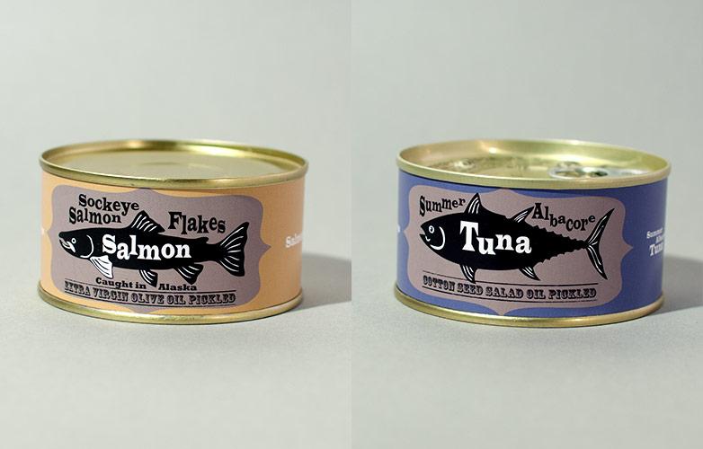 EXV紅鮭フレーク・マグロ油漬缶詰詰合せ3